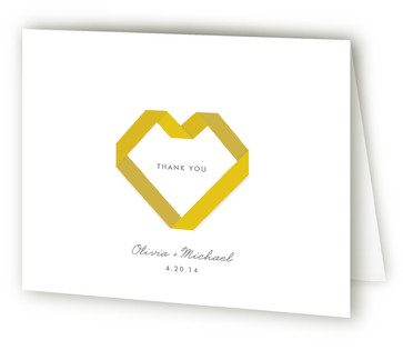 Origami Thank You Cards