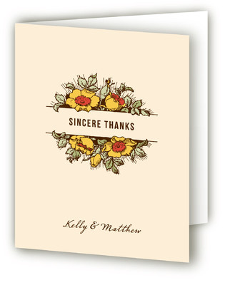 Harvest Floral Thank You Cards