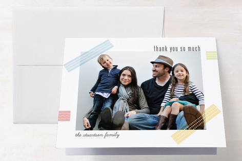 Family Craft Thank You Cards