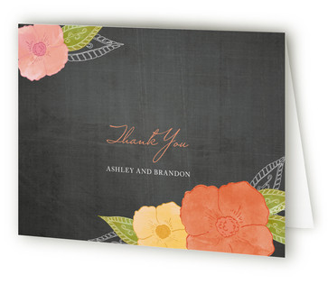 A Punch of Poppies Thank You Cards