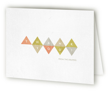 Modern Geometry Thank You Cards