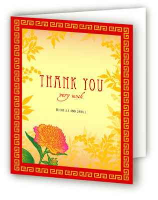 Red Envelope Thank You Cards