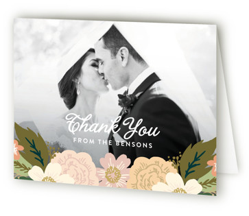 Classic wedding photo Thank You Cards