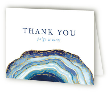 Gilt Agate Thank You Cards