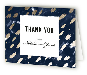 Midnight And Gold Thank You Cards