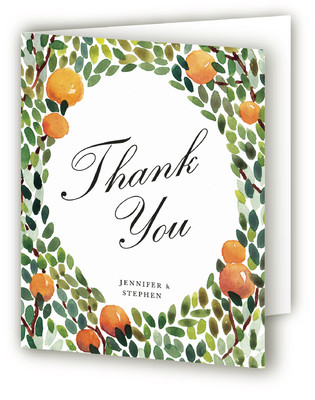 Orangerie Thank You Cards