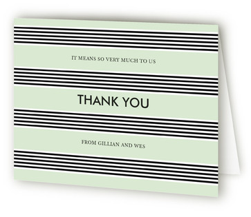 Striped Bow Thank You Cards