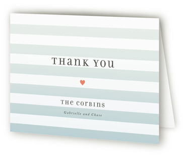 Ombre Stripes Thank You Cards