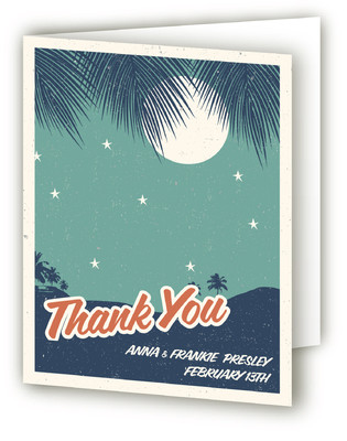 Retro Hawaii Thank You Cards