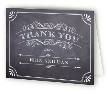 A Chalkboard Marriage Thank You Cards