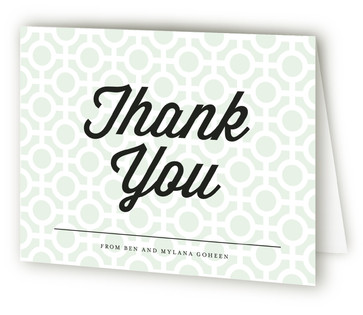 Mod Dots Thank You Cards