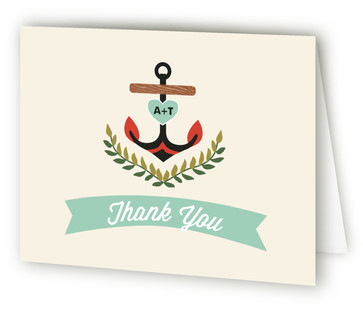 Nautical Campy Love Thank You Cards