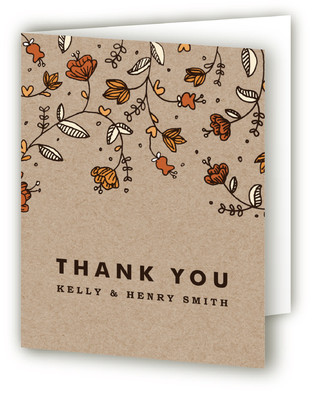 Bud and Blossom Thank You Cards