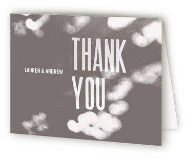 Bokeh Bride Thank You Cards