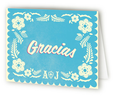Papel Picado Thank You Cards