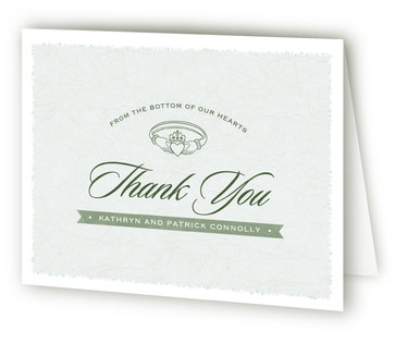 Classic Claddagh Thank You Cards