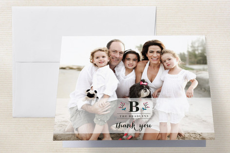 Berry Monogram Thank You Cards