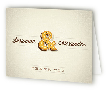 Ampersand Marquee Thank You Cards