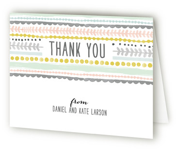 Whimsy Stripe Thank You Cards