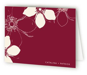 Modern Lotus Thank You Cards