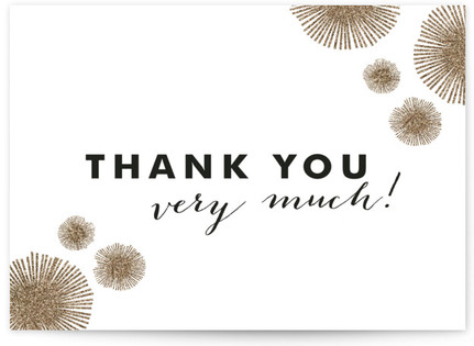 Sparkle Everywhere Thank You Cards
