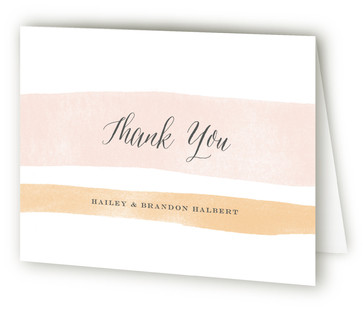 Sorbet Stripes Thank You Cards