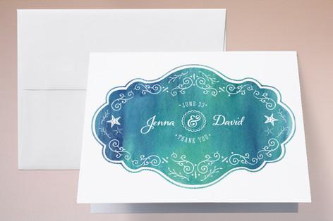 Splash of Paradise Thank You Cards