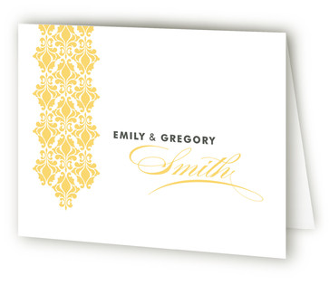Damask Waterfall Thank You Cards