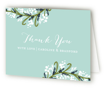 Midnight Floral Thank You Cards