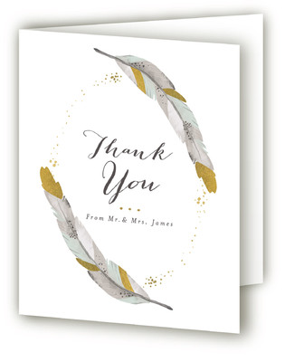 Dipped Feathers Thank You Cards