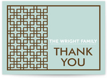 Treillis Moderne Folded Thank You Card