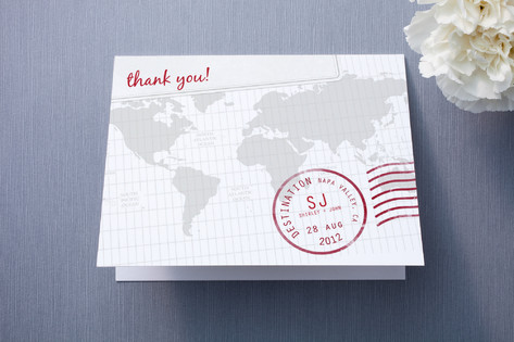 A Faraway Destination Thank You Cards