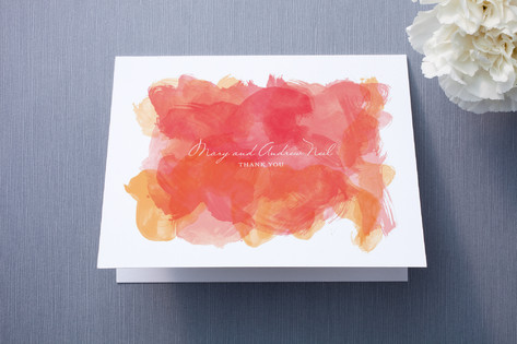 Aquarelle Thank You Cards