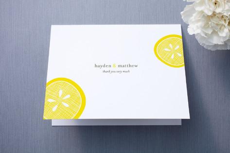 Lemon Drop Thank You Cards