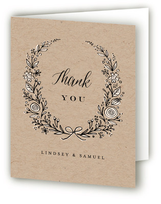 Painted Wreath Thank You Cards