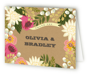 Floral Canopy Thank You Cards