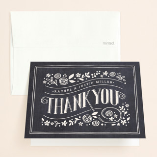 Alabaster Florals Thank You Cards