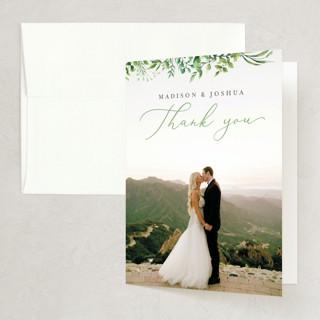 Bright & Green Folded Thank You Card