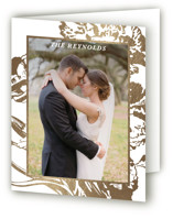 Gilded Bloom Foil-Pressed Folded Thank You Card
