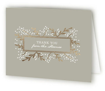 Gilded Branches Foil-Pressed Thank You Cards