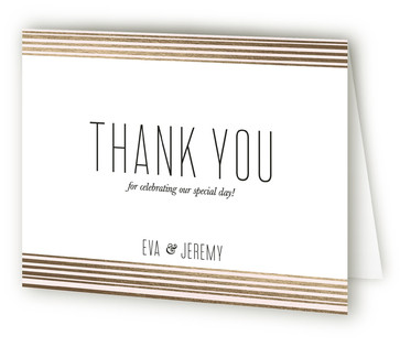 Golden Sunset Foil-Pressed Thank You Cards