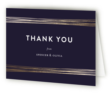 Golden Threads Foil-Pressed Thank You Cards