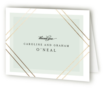 Modern Angle Foil-Pressed Thank You Cards
