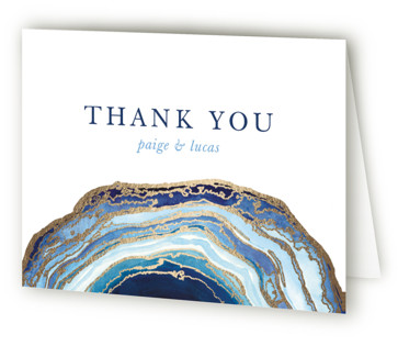 Gilt Agate Foil-Pressed Thank You Cards