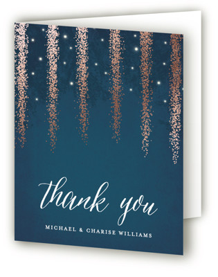 Strands Of Lights Foil-Pressed Thank You Cards