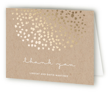 Dappled Foil-Pressed Thank You Cards