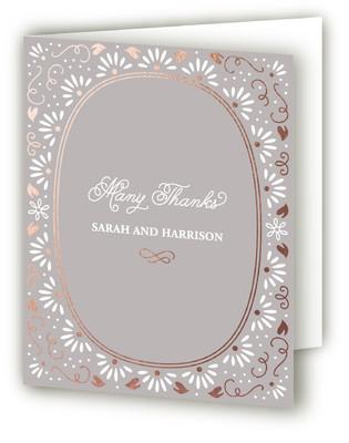 Flora Frame Foil-Pressed Thank You Cards