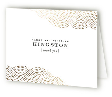 Majestic Foil-Pressed Thank You Cards