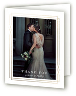 Traditional Twist Foil-Pressed Folded Thank You Card