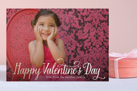 Happy Valentine's Day Foil-Pressed Valentine Cards